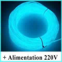 Kit Néon fil 220V Bleu clair