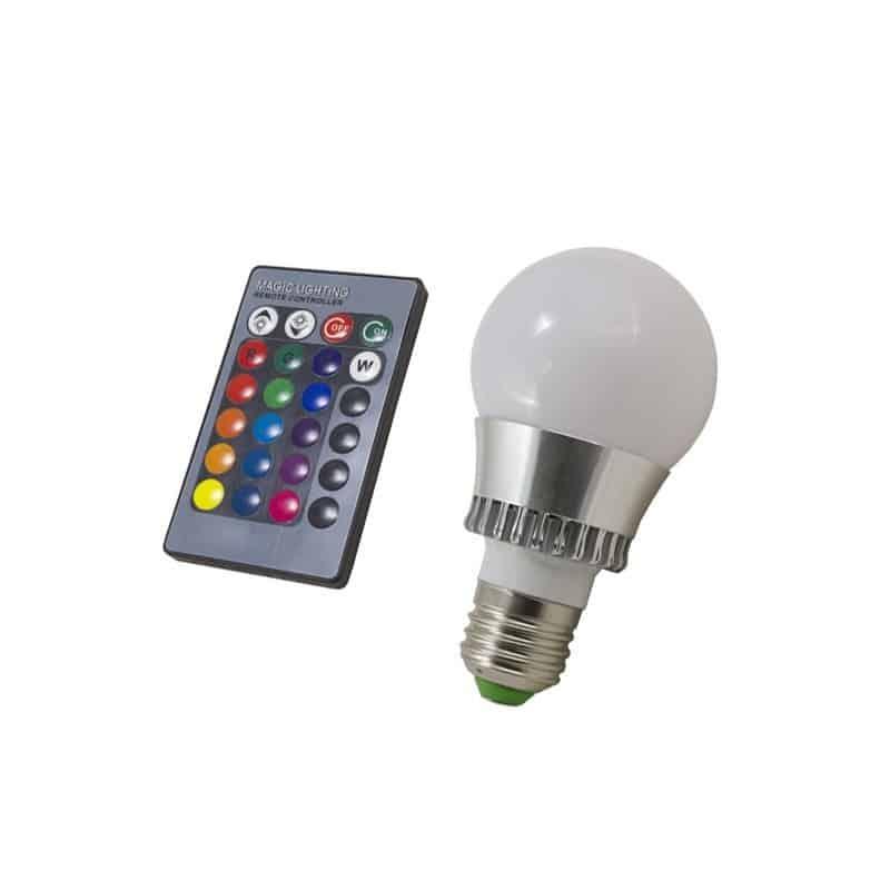Ampoule à LED E27 5W RGB