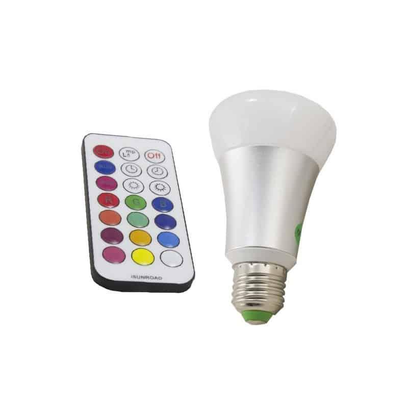 Ampoule à LED E27 10W RGB