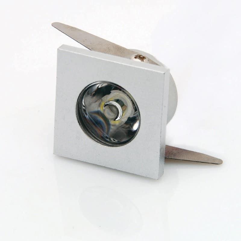 Mini Spot encastrable 1W Blanc carré