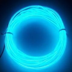 Néon fil Bleu Transparent