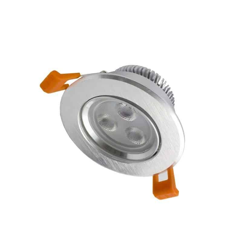 Spot encastrable orientable 3w inox lampe eclairage led for Lampe exterieur encastrable