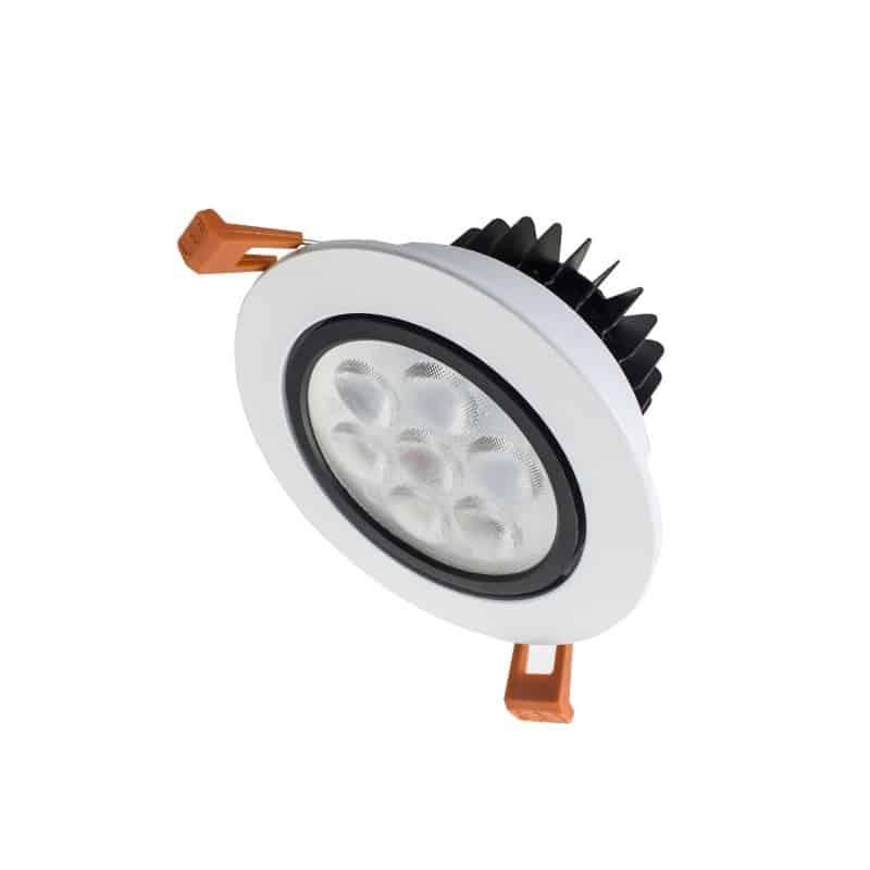 Spot encastrable orientable 7w blanc lampe eclairage led for Lampe exterieur encastrable