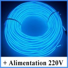 Kit Néon fil 220V Bleu