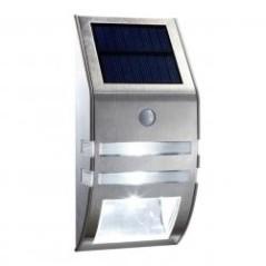 Applique solaire avec détecteur argentée