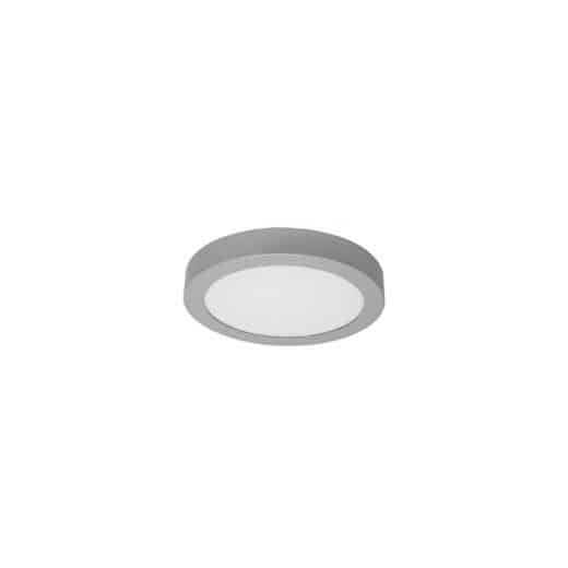 Plafonnier LED - 12W, circulaire, argenté