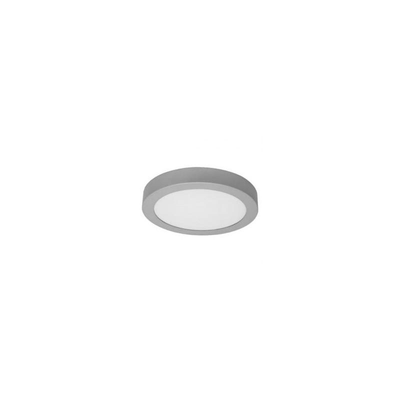 Plafonnier LED - 18W, circulaire, argenté