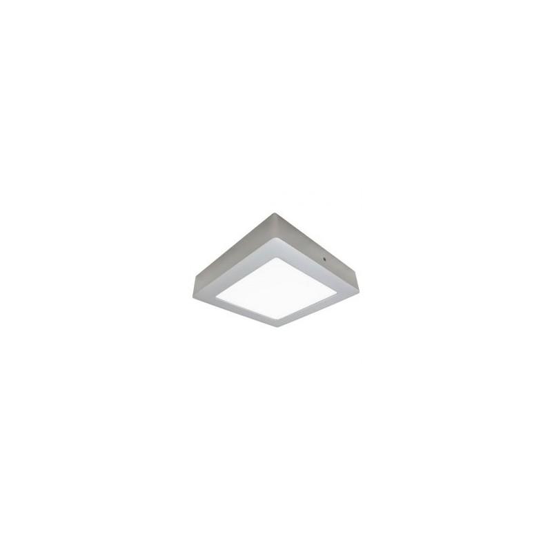Plafonnier LED - 30W, carré, argenté