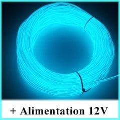 Kit Néon fil 12V Bleu Transparent