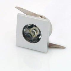Mini Spot encastrable 1W carré Inox