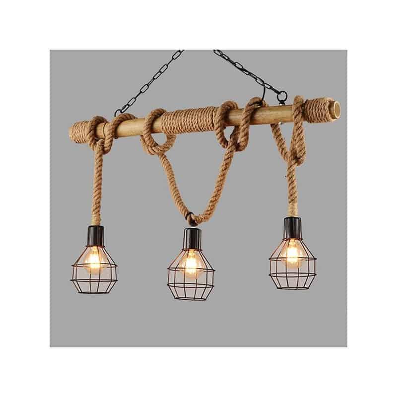 Lampe suspendue cordes