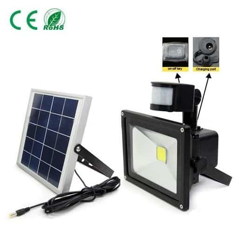 Projecteur solaire 20W avec détecteur