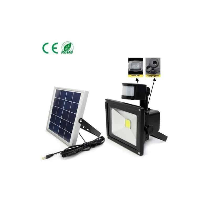 Projecteur solaire 10W avec détecteur