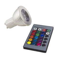 Ampoule GU10 3W RGB