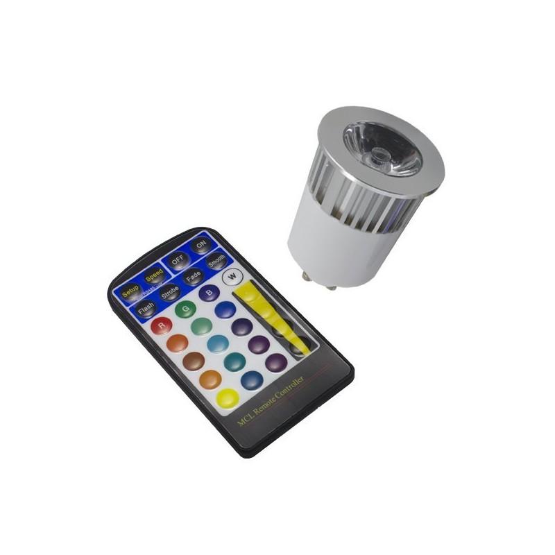 Ampoule GU10 5W RGB
