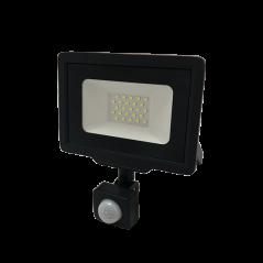 Projecteur avec détecteur 10W Noir