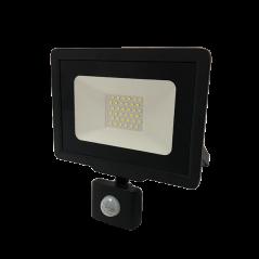 Projecteur avec détecteur 50W Noir
