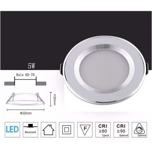 Spot encastrable 5W IP65 dimmable