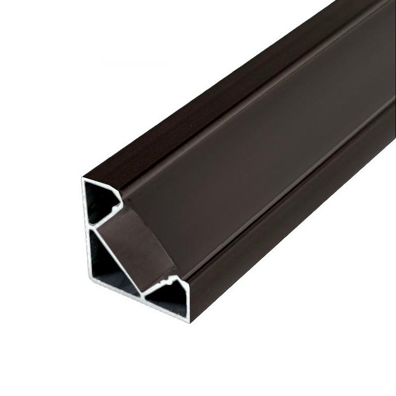 Profilé alu d'angle Noir Ruban LED