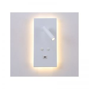 Applique mural 3W+12W USB