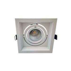 Spot orientable AR60 carré Blanc