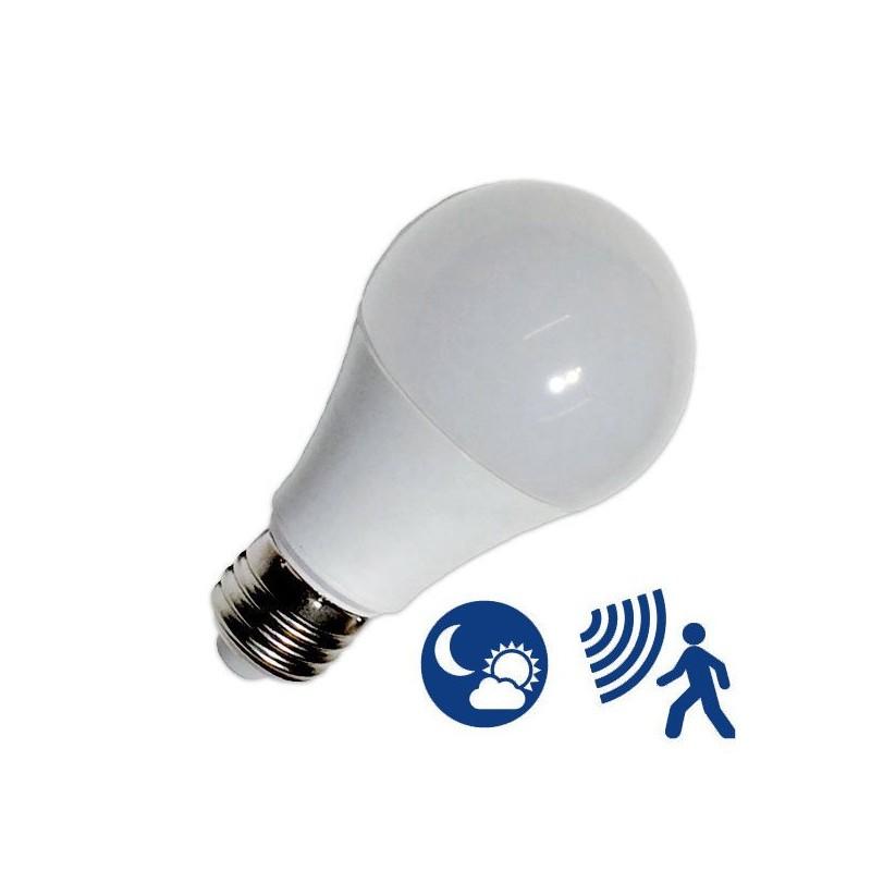 Ampoule E27 7W avec détecteur