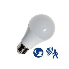 Ampoule E27 9W avec détecteur