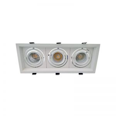 Triple Spot orientable AR60 carré Blanc