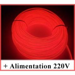 Kit Néon fil 220V Rouge