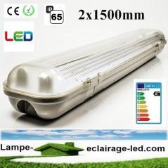 Boitier Tube LED 2x150cm étanche