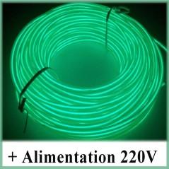 Kit Néon fil 220V Vert