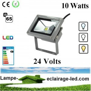 Projecteur LED 10W 24V