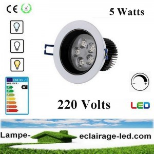 Spot à LED encastrable 3W Chromé