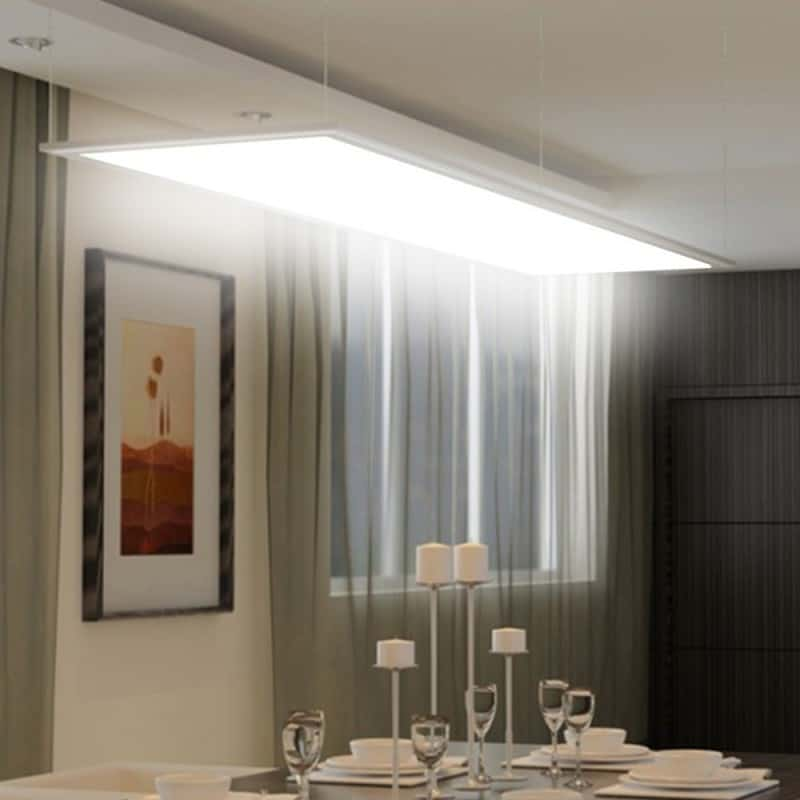 dalle led plafond 120x60cm. Black Bedroom Furniture Sets. Home Design Ideas